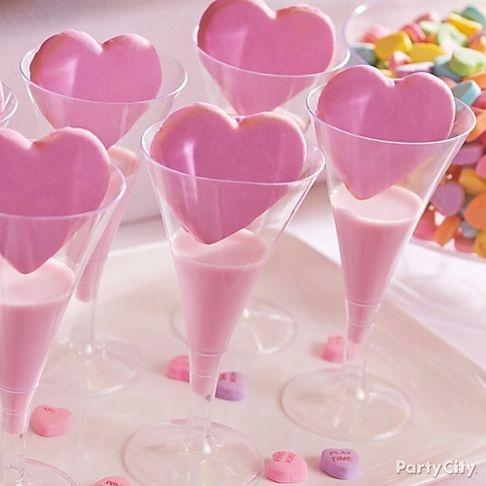 valentines cookie and milk